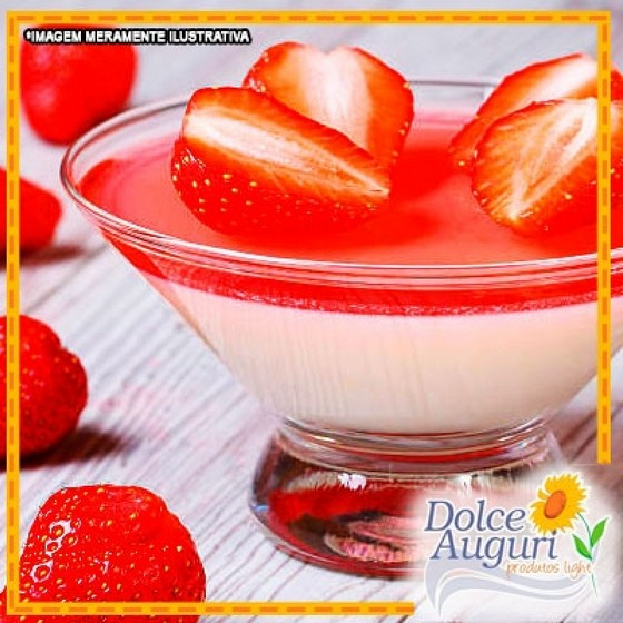 Encomenda de Mousse de Morango Zero Açúcar Diet Jockey Club - Mousse para Festa de Aniversário Diet