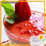 mousse de morango diet Chácara do Piqueri