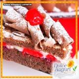 orçamento para encomenda de bolo de chocolate sem açúcar Guararema