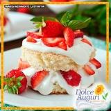 orçamento para encomenda de bolo de morango sem açúcar Pedreira